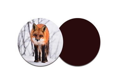 Red Fox Custom Printed Coasters с 8 X 8 см круглой формы / линзовидные 3d-изображения